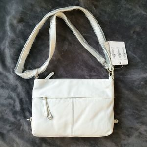 BNWT Tignanello eggshell white purse 3 in 1